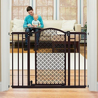 Safety Gate Walk Through Extra Wide Baby Child Pet Easy Close Fence