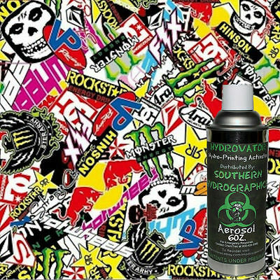 Hydrographic Film Water Transfer Hydro Dip 6Oz. Activator W/ Sticker Bomb B Kit