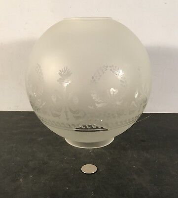 "Antique vtg Victorian style Vianne repro banquet oil gas 9"" ball shade"