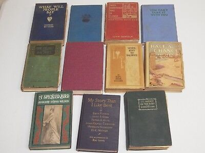 Lot of 11 Vintage / Antique Books, Novels, Stories - Free Shipping