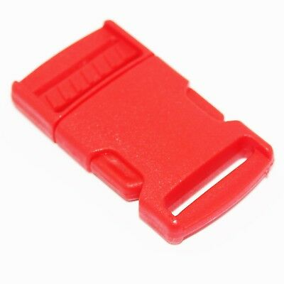 Red Plastic Clip For Craft Webbing Paracord Bag Strap 25mm Side Release