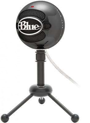 Blue Snowball Omnidirectional/Cardioid USB Microphone Multi Compatible - Black