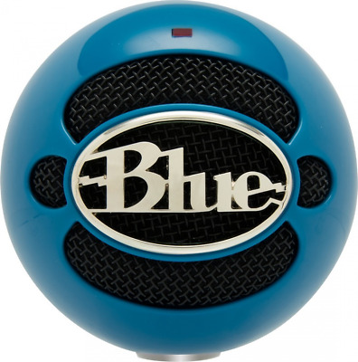 Blue Snowball Omnidirectional/Cardioid USB Microphone with Stand - Neon Blue
