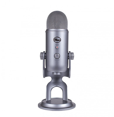 Blue Yeti USB Microphone Plug and Play, Multiple Pattern Selection- Space Grey