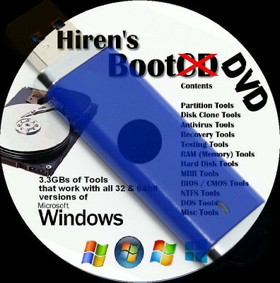 PC Repair, Password Recovery, Clone. Malware/Virus Removal, Bootable USB Hirens
