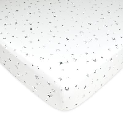 American Baby Company Printed 100% Cotton Jersey Knit Fitted Crib Sheet for S...