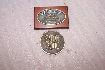 (2) Eaton 2000 Employee Paperweights T. Eaton Co.