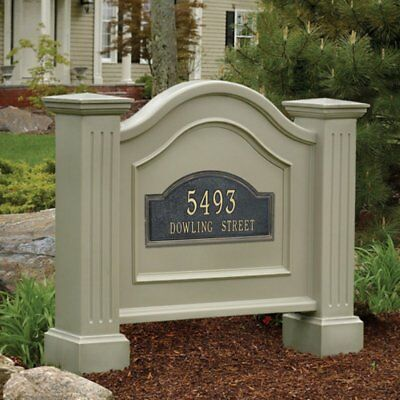 Address Plaque Sign House Lawn Stand Street Number Wood UV Resist Outdoor Home