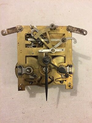 Antique German Style Tambour Mantle Clock Movement With Hands