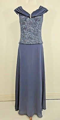 Patra Blue Glitter FORMAL MOTHER OF THE BRIDE SPECIAL OCCASION FORMAL Sz 8