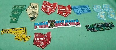 state magnets - lot of 11