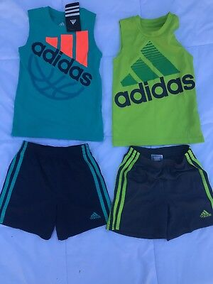 ADIDAS Boys Soccer Shorts Shirt Set Lot 2 size 3T
