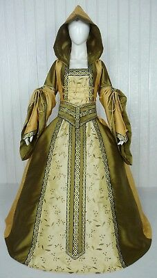 Medieval Renaissance Tudor Wedding Handfasting Larp Gown Dress Costume (25H)