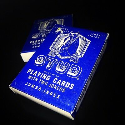 "Vintage ""Jumbo Index"" STUD Playing Card Deck - (Nugget, Fontaine, Virtuoso, Dot)"