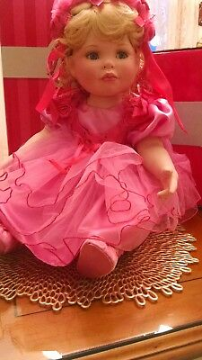 """Beautiful Coming Up Roses """"Friendship """" Marie Osmond Toddler Doll with Pin"""
