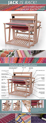 "Ashford Jack Loom eight shaft, ten treadle 97cm (38"") weaving width"