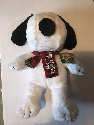 Peanuts Snoopy 20 Inch Plush Merry Christmas Scarf