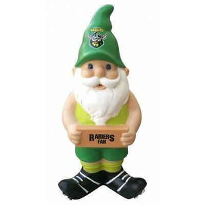 Canberra Raiders Official NRL Garden Gnome with Sign UNBOXED