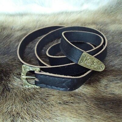 Viking Styled Leather Belt - Perfect For Stage, Costume, Re-enactment And LARP