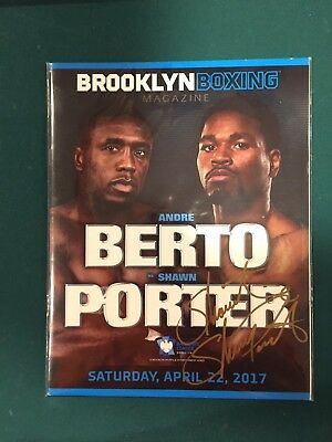 Autographed Andre Berto Shawn Porter Program Boxing Brooklyn April 22 2017