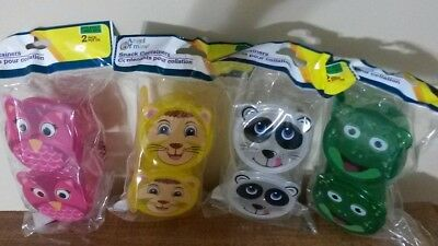 4 Sets Angel of Mine snack containers with spoon kids