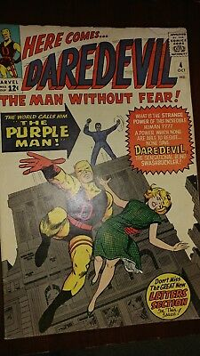 Daredevil #4 (October 1964, Marvel) First appearance of the Purple Man!