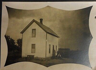 Antique Homestead Photograph Family House  early 1900's late 1800's ? 10 x 8