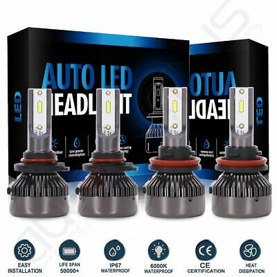 9005 + H11 6000K 2000W 300000LM Combo CREE LED Headlight Kit High Low Light Bulb