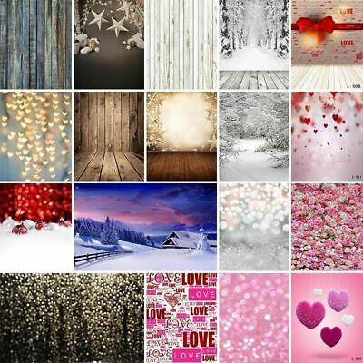 US Dreamy Hearts Valentine's Day Backdrops Glitter Photography Background Props