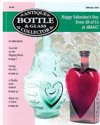 Current February Issue of Antique Bottle & Glass Collector Magazine