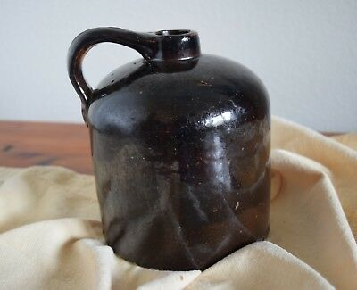 "ANTIQUE Vintage REDWARE JUG 7"" TALL VERY OLD NICE PIECE"