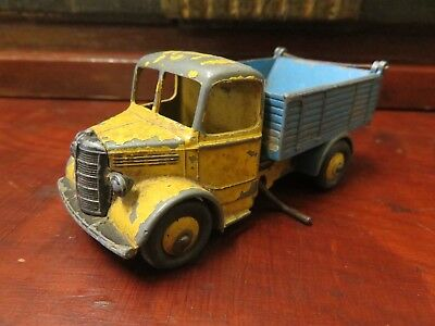 Original Blue & Yellow Bedford Truck By Dinky Toys With Winder - Britain