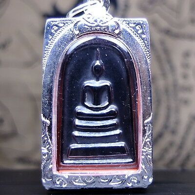 Leklai Black magic power magnetic LP Huan Wat Putthaisawan Thai Buddha Amulet1