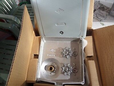 Neptune 8106  steel wall box with hose valve supply waste Acorn