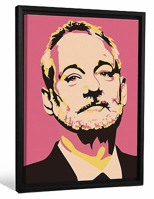 JP London Framed Bill Murray Tribute Andy Warhol Painting Gallery Wrap He... New