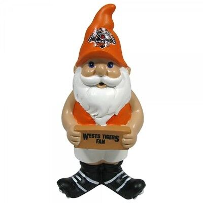 Wests Tigers Official NRL Garden Gnome with Sign