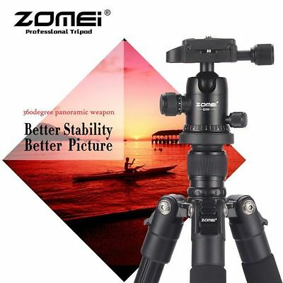 ZOMEI Q111 Heavy Duty Travel Tripod&Pan Head Aluminum Portable for Camer Black X