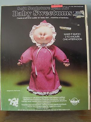 1983 Valiant Baby Sweetums Soft Sculpture Doll Kit - Sealed In Original Package