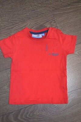 "T-shirt rouge ""Knot so Bad""- taille 12 mois (80 cm)"