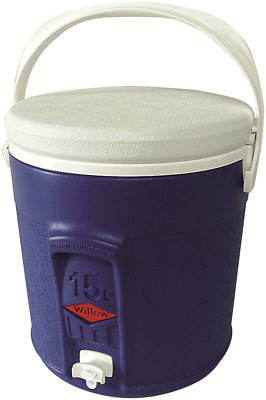 Willow Ware ROUND PLASTIC COOLER WITH TAP 15L Food Safe BLUE *Australian Brand