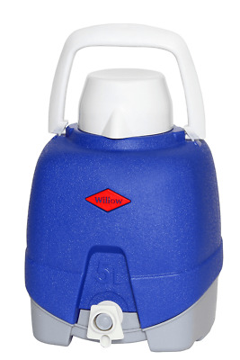 Willow Ware COOLER JUG WITH TAP 5L Food Safe, Drink Cup BLUE *Australian Brand