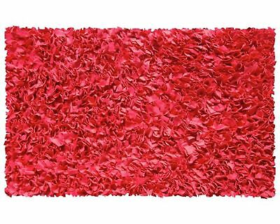 "The Rug Market Shaggy Raggy Red Area Rug  Size 2.8'x4.8' 2.8"" x 4.8"" New"