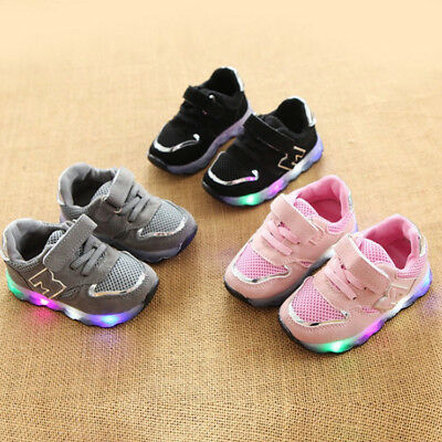 LE Led Sneakers Light Lace Up Kids Luminous New Children Kids Boys Girls Shoes