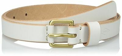 Fossil Women's Explorer Leather Buckle Belt, Vanilla, Size Large
