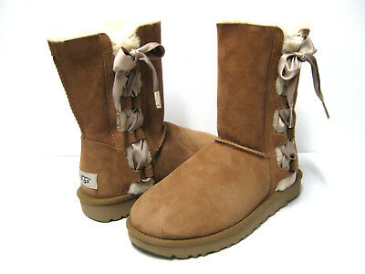 8ae34d6cd8a UGG PALA LACE Up Women Short Boots Suede Chestnut Us 6 /uk 4.5 / Eu ...