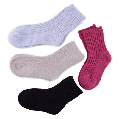 5 Pairs Baby Toddler Wool Cashmere Thick Warm Boy  Girls Kids Soft Socks 1-12Y