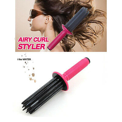Airy Curl Roll Brush Round Hair Comb Wavy Curly Styling Care Curling Hair Tool