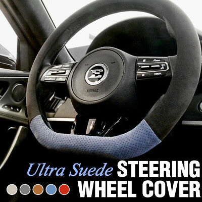 Car D Shaped Steering Wheel Ultra Suede Cover 5Color for KIA 2017 - 2019 Stinger
