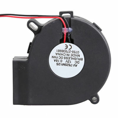 Brushless DC Turbine Cooling Blower Fan Exhaust 7525S 75x33mm12V ASS