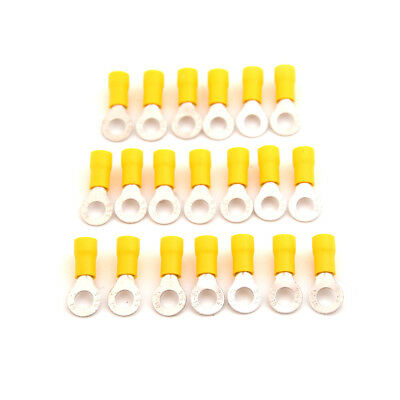 20PCS M6 Ring Insulated Wire Connector Electrical Crimp Terminal 12-10AWG EB